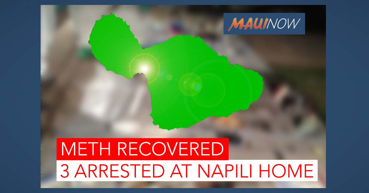 Meth Recovered During Search of Nāpili Home