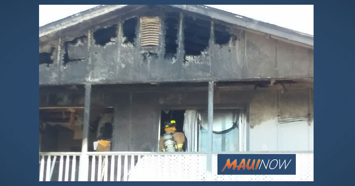 Six Residents Displaced in Lahaina Home Fire