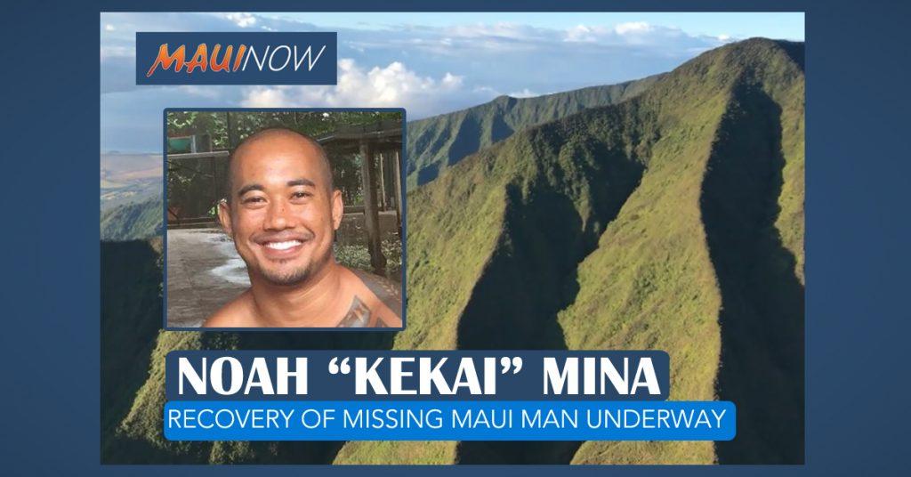 "Maui Now: Recovery Underway for Noah ""Kekai"" Mina"