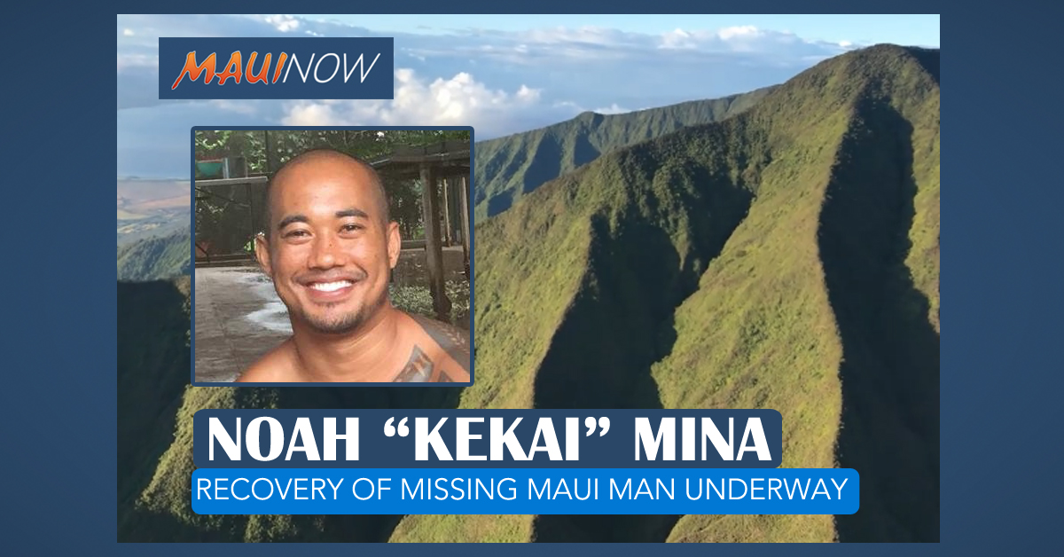 "Recovery Underway for Noah ""Kekai"" Mina"