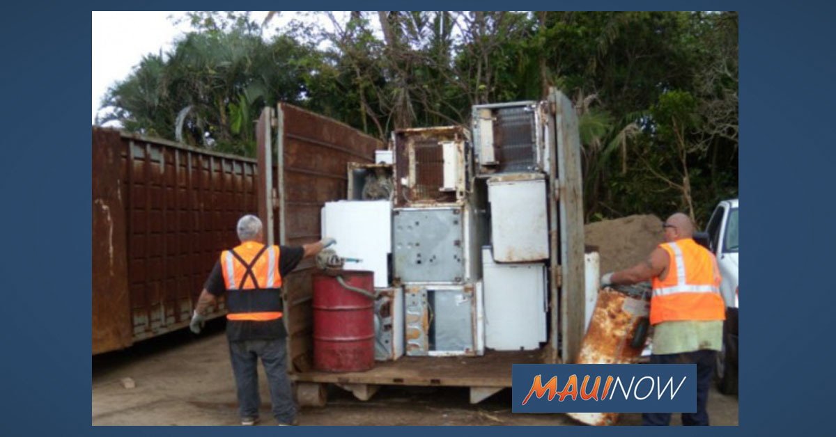 Lāna'i White Goods, Metals and E-Waste Collection Event Set for Aug. 22