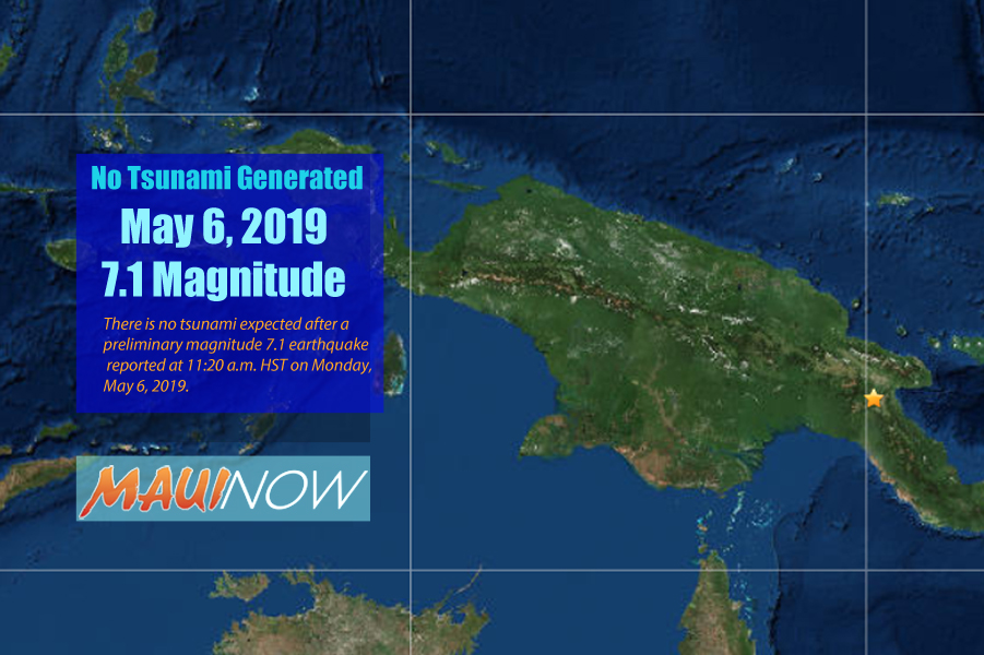 No Tsunami Threat After 7+ Papua New Guinea Quake
