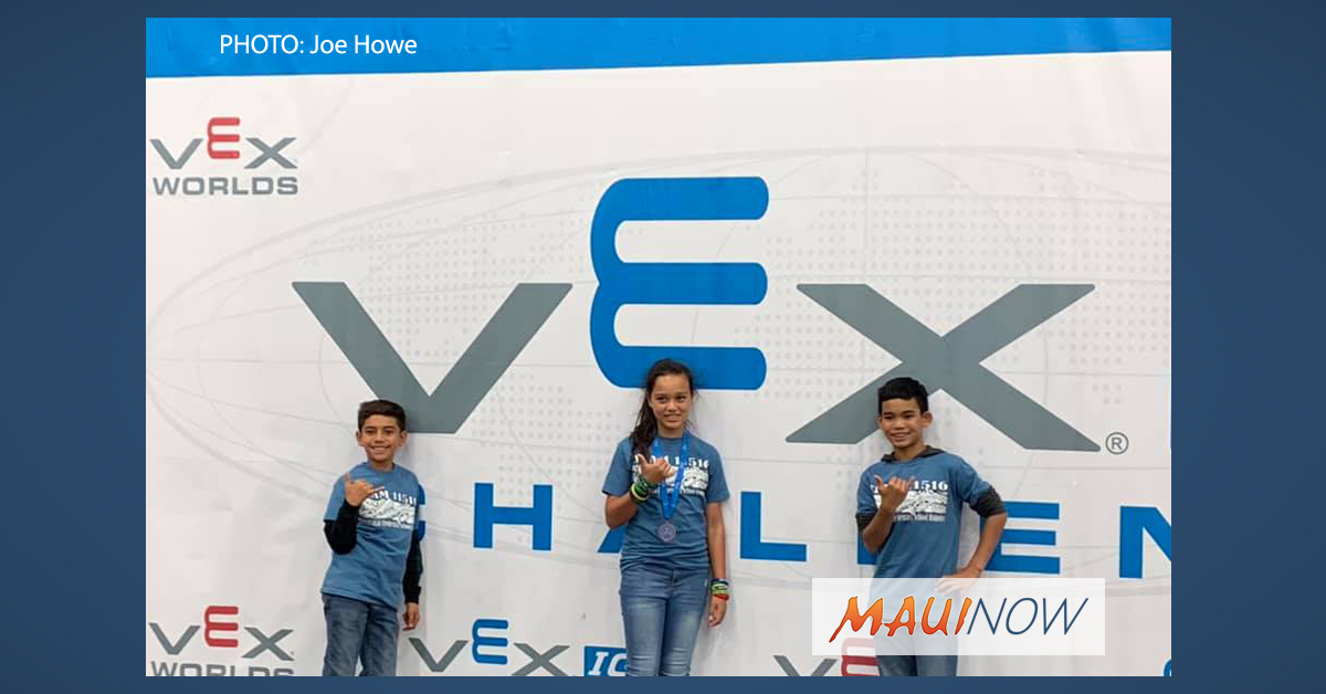Molokaʻi Kids Celebrate Success at VEX Robotics World Competition