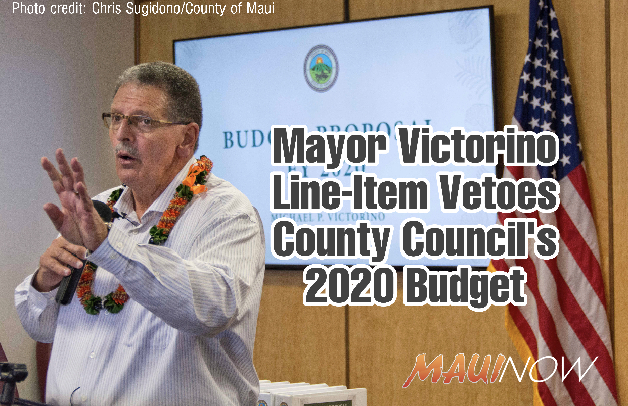 Mayor Victorino Uses Line-item Veto to Strike a Dozen Provisions