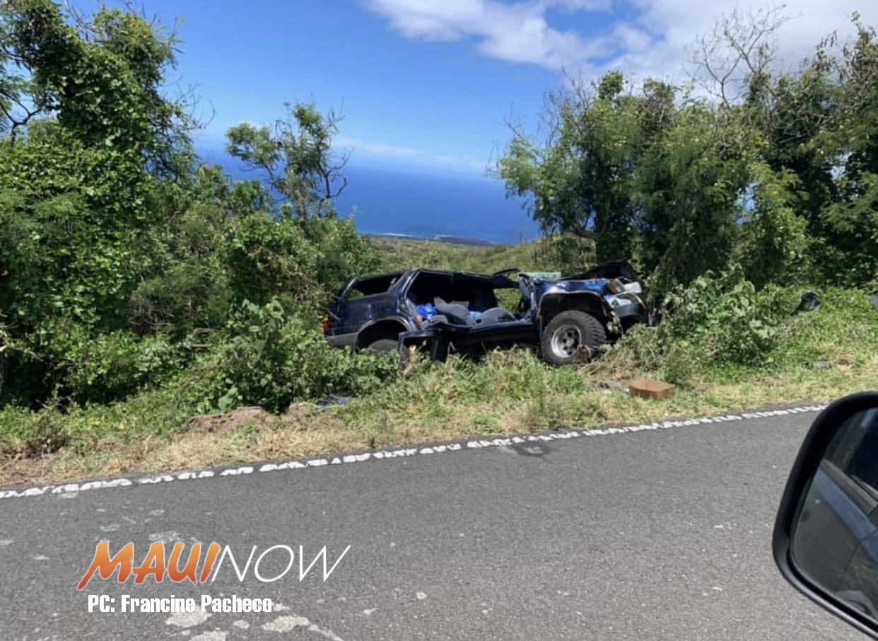 Pi'ilani Hwy in Kanaio Closed: Traffic Accident