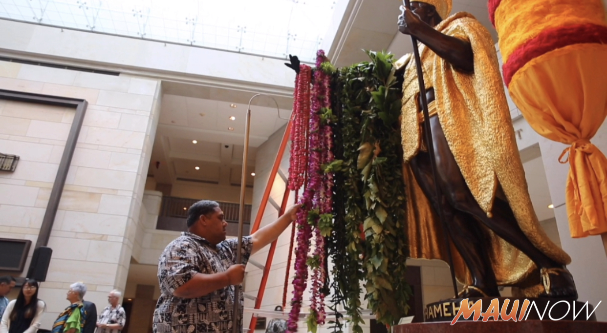 50th Annual Kamehameha Day Lei Draping