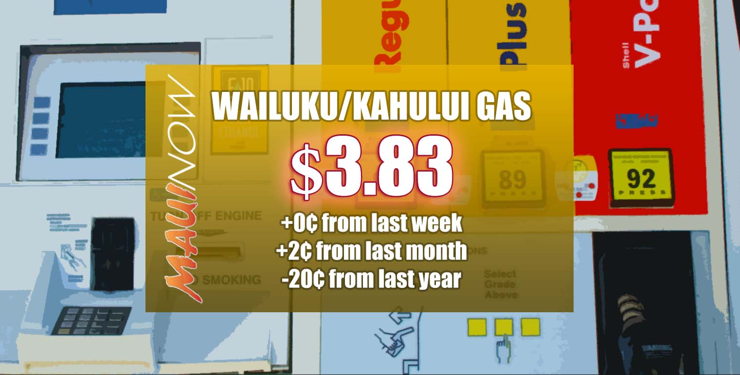 Maui Gas Prices Unchanged From Last Week