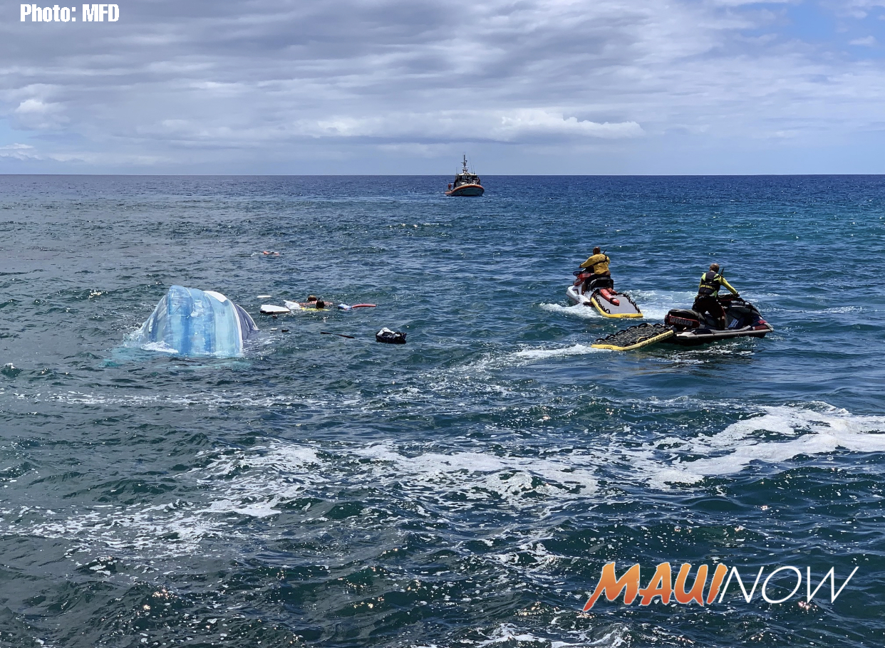Four Rescued From Capsized 30' Boat Off Wailea, Maui