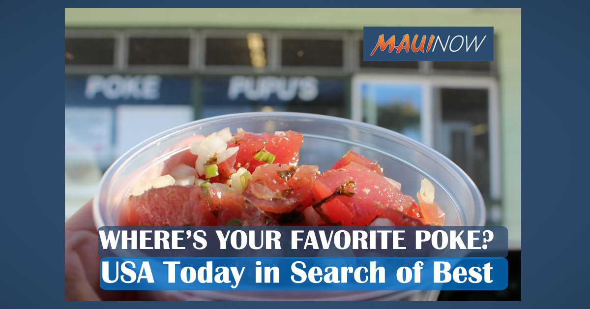 Three Maui Poke Places Up For USA Today Vote