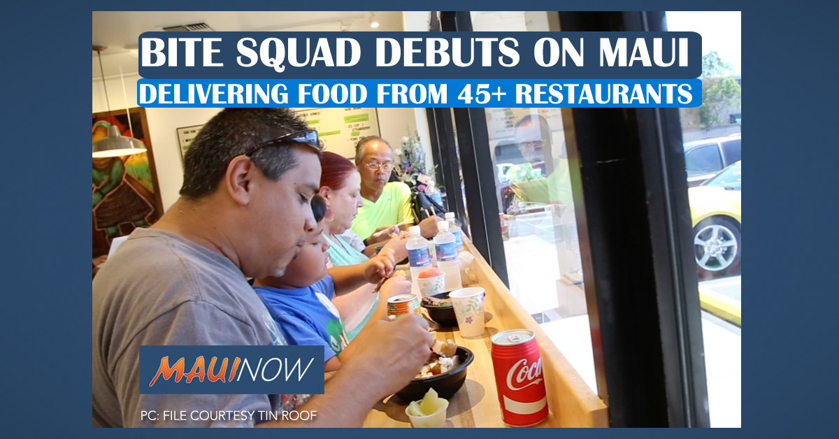 Bite Squad Debuts on Maui: Delivering Food from 45+ Restaurants