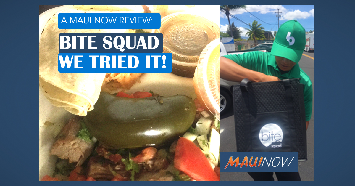 Maui Now Tries the Brand New Bite Squad Delivery