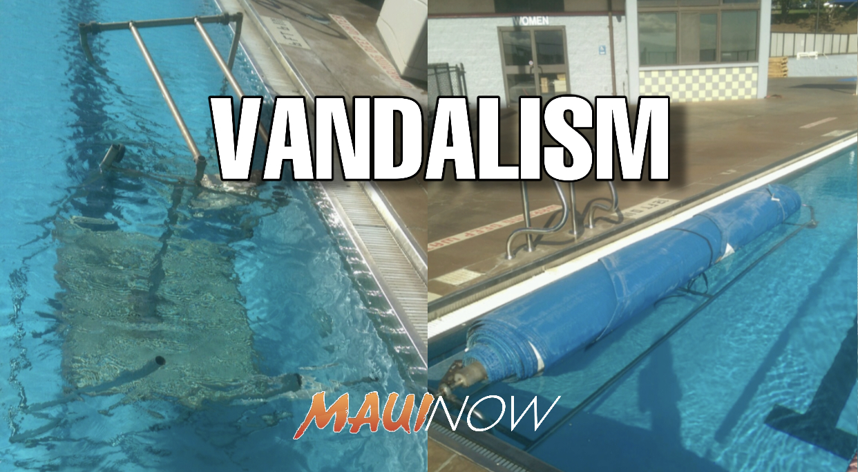 Vandals Dump Lifeguard Stand, Cut Pool Covers