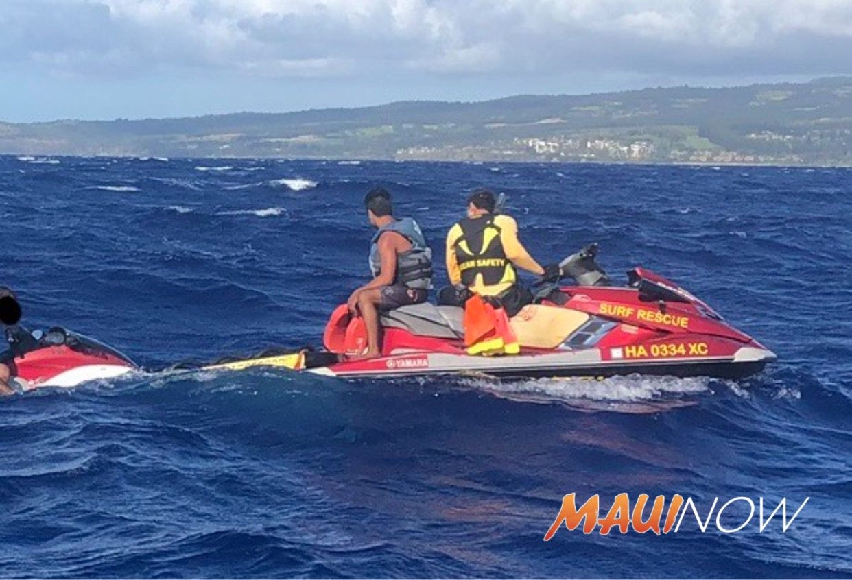Two Rescued From Personal Watercraft Adrift in the Pailolo Channel