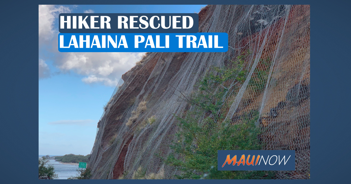 Hiker Rescued From Lahaina Pali Trail
