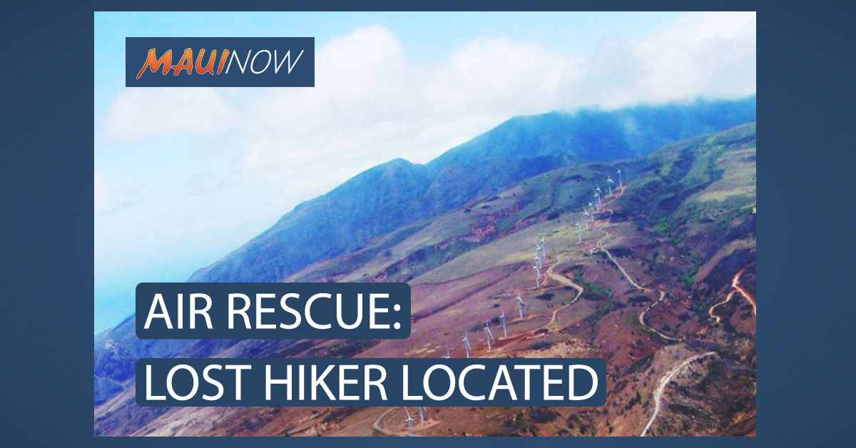 Air Rescue: Lost Hiker Located Above Kaheawa Wind Farm