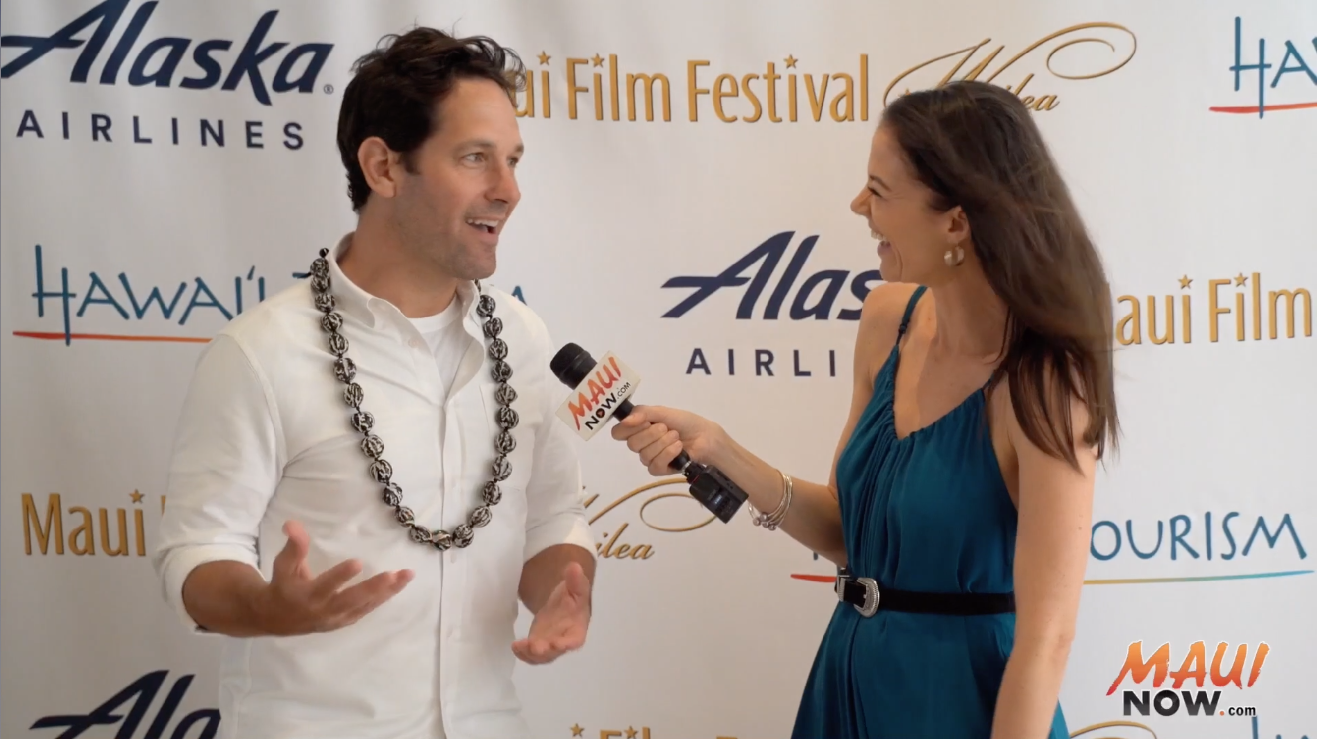 Malika Interviews Paul Rudd, Maui Film Festival Nova Award Recipient
