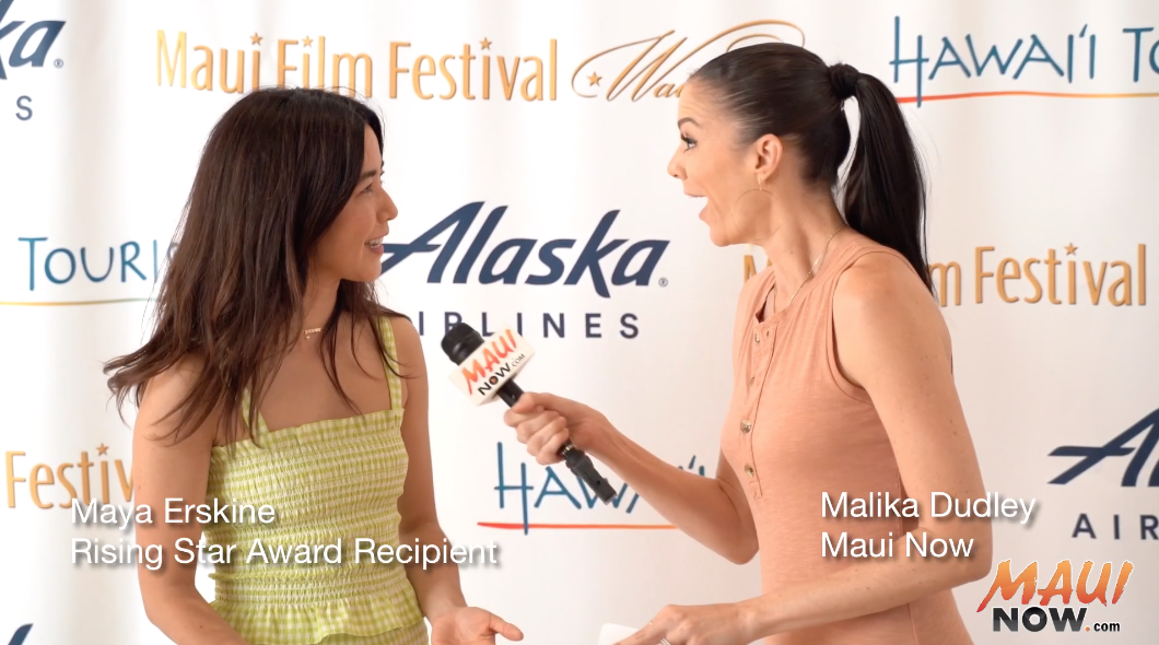 Malika Interviews Maya Erskine, Maui Film Festival Rising Star Recipient