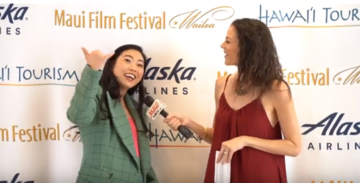 Malika Interviews Awkwafina, Maui Film Festival Shining Star Recipient