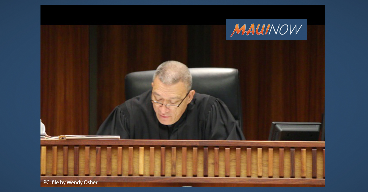 Bissen Named Chief Judge for 2nd Circuit on Maui