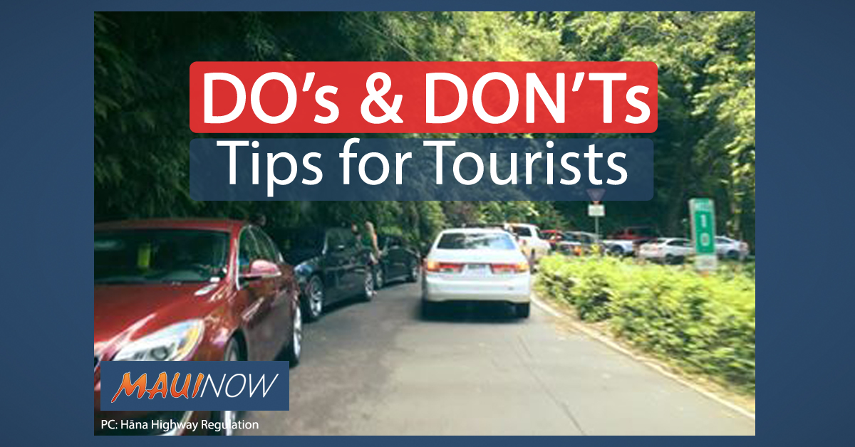 Do's and Don'ts for Tourists: UPDATED