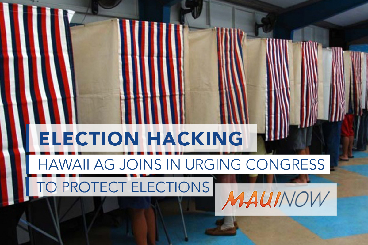 Hawai'i AG Joins Colleagues in Asking Congress to Protect Elections