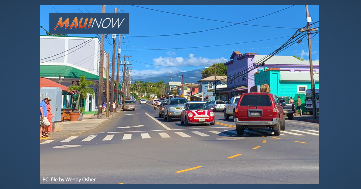 Maui Traffic Signal Improvements on Friday, May 29 in Pā'ia and Pukalani