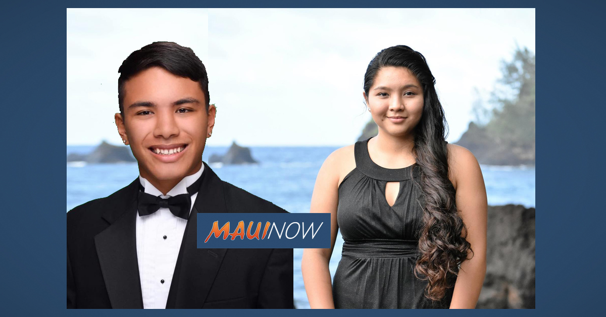 Two Hāna Seniors Receive Kukui Mālamalama Scholarship