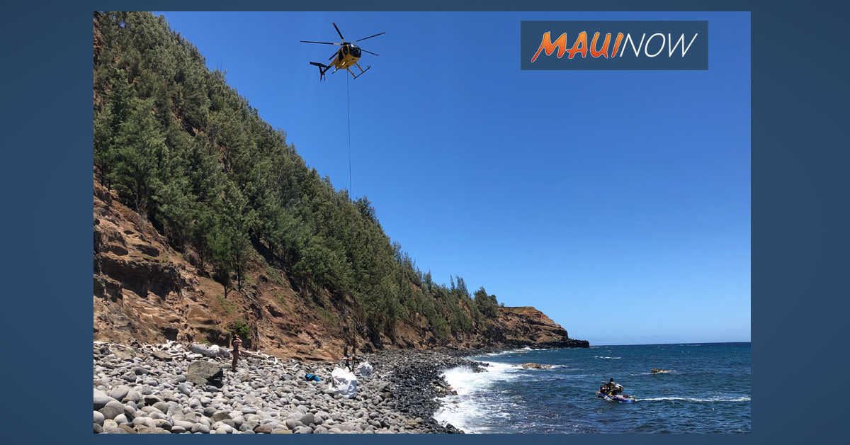 8,000 lbs of Debris Airlifted From Maui's North Shore