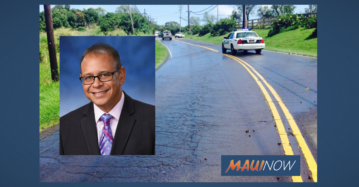Molina Thanks Public Works for Makawao Road Repairs