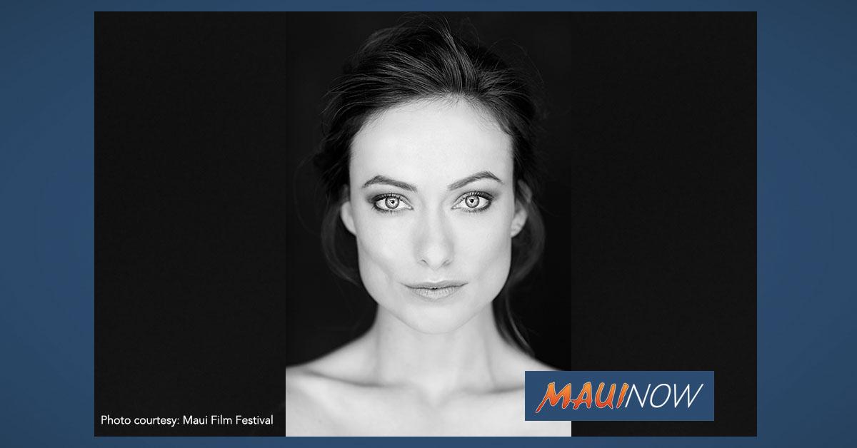 "Olivia Wilde to Receive ""Lights! Camera! Passion!"" Award at Maui Film Festival"