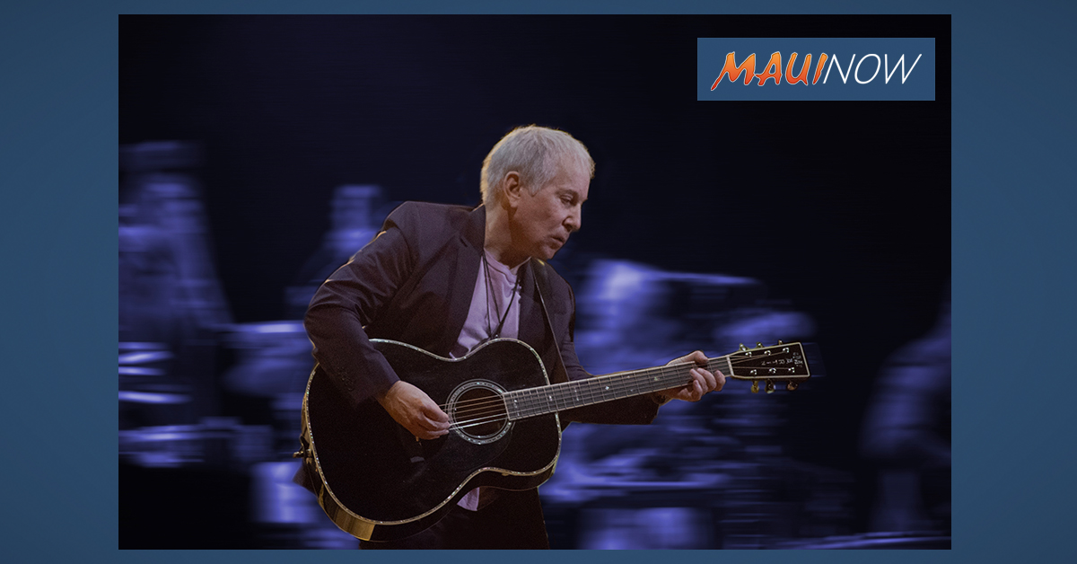 BREAKING: Paul Simon to Perform Two Maui Concerts, Aug. 13 and 14