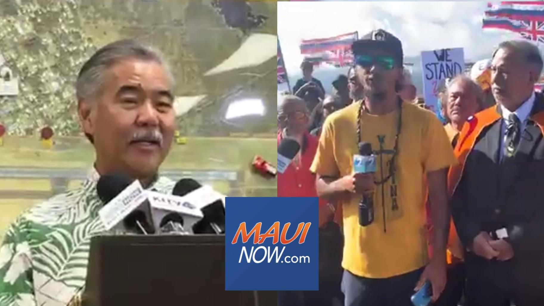 "Governor Calls Situation at Maunakea ""Unsafe""; Pu'uhonua Leaders Seek ""Apology"""