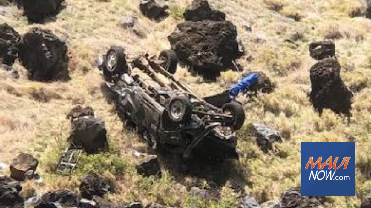 One Dead, Vehicle Plunges 200 Feet Down Manawainui Gulch