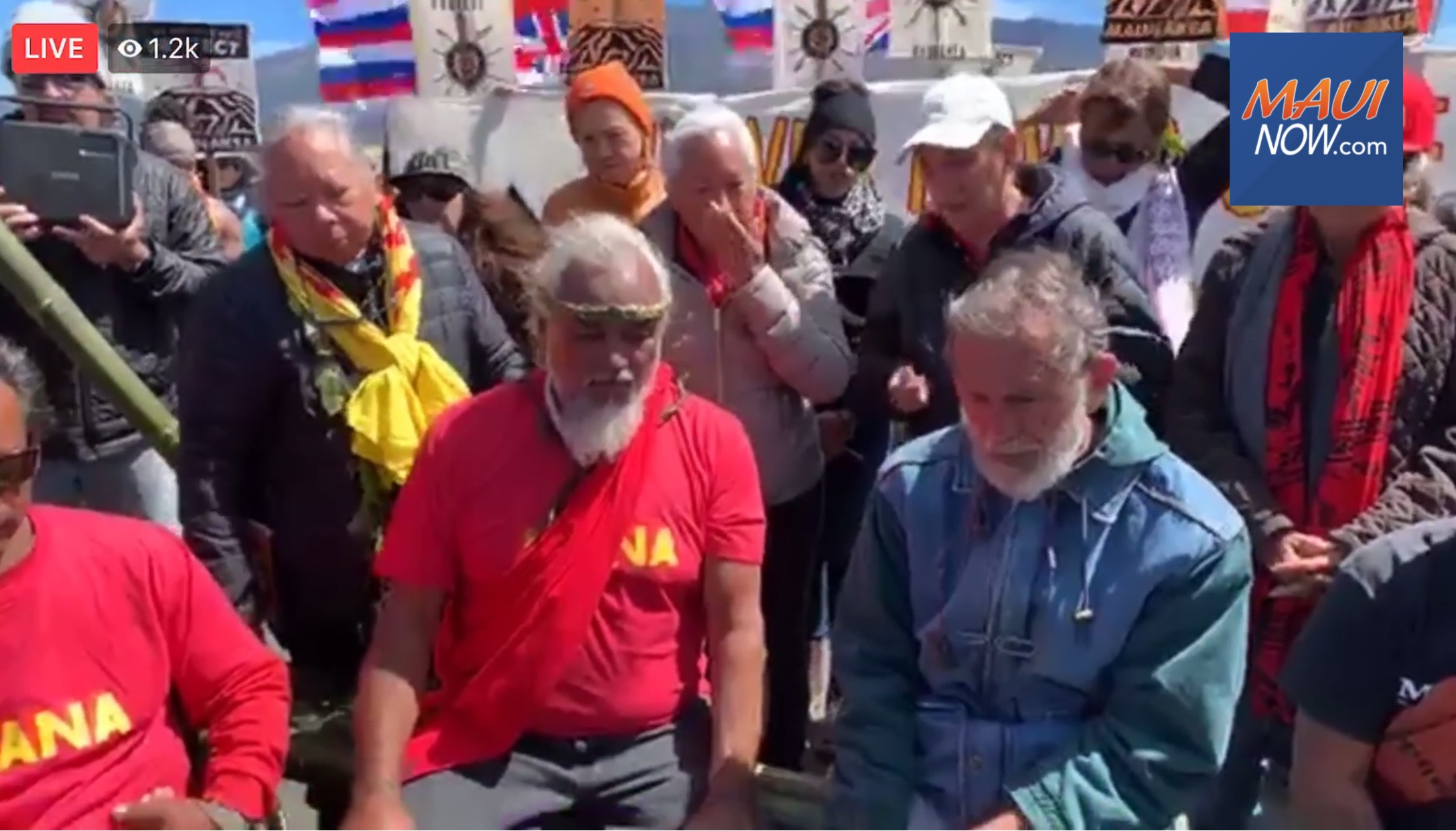 Protesters Condemn Governor's Emergency Proclamation at Maunakea