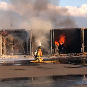 Fire Damages More Than a Dozen Army National Guard Storage Units