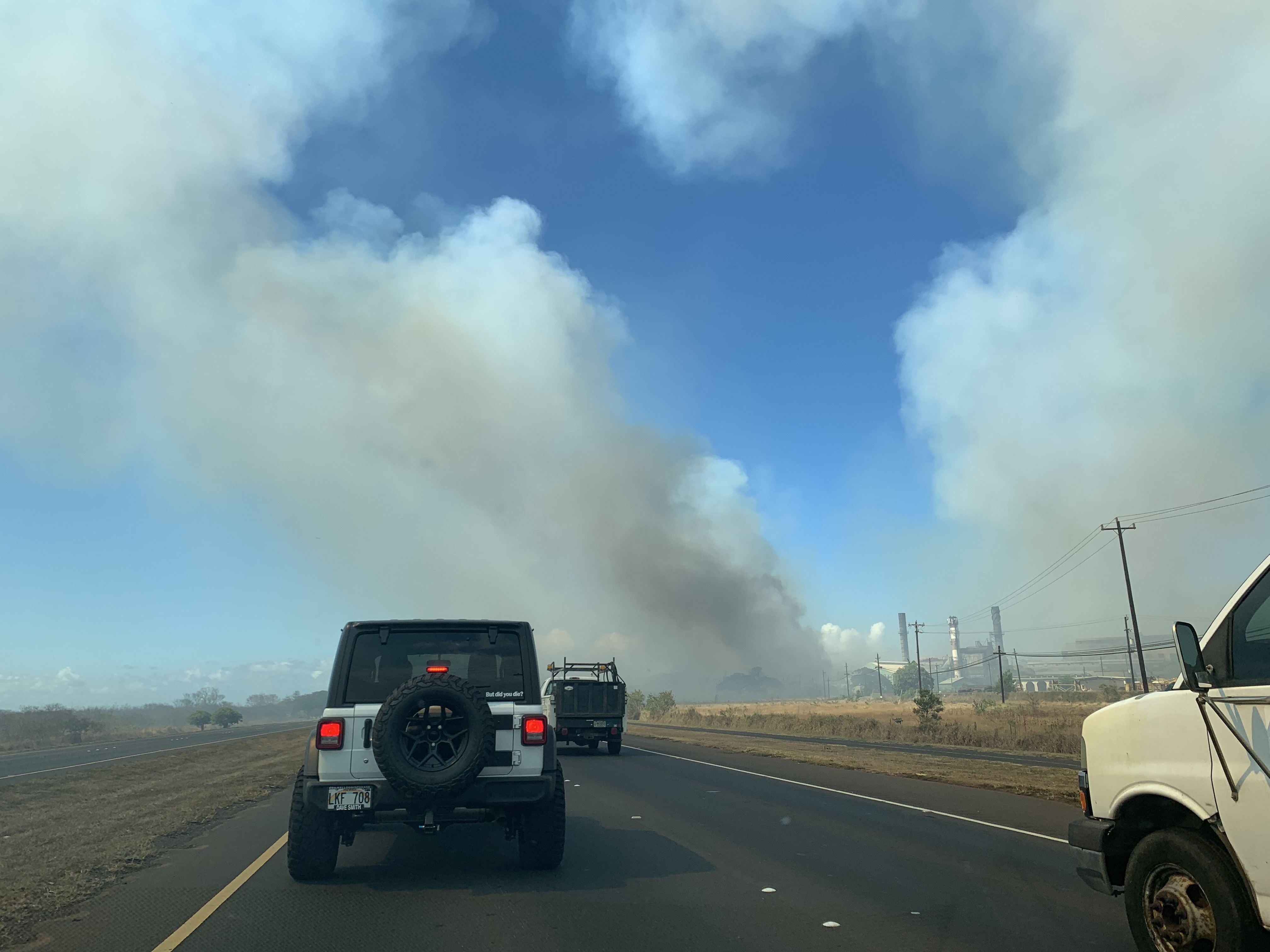 Puʻunēnē Fire Is Separate from Large Maui Wildfire From Thursday