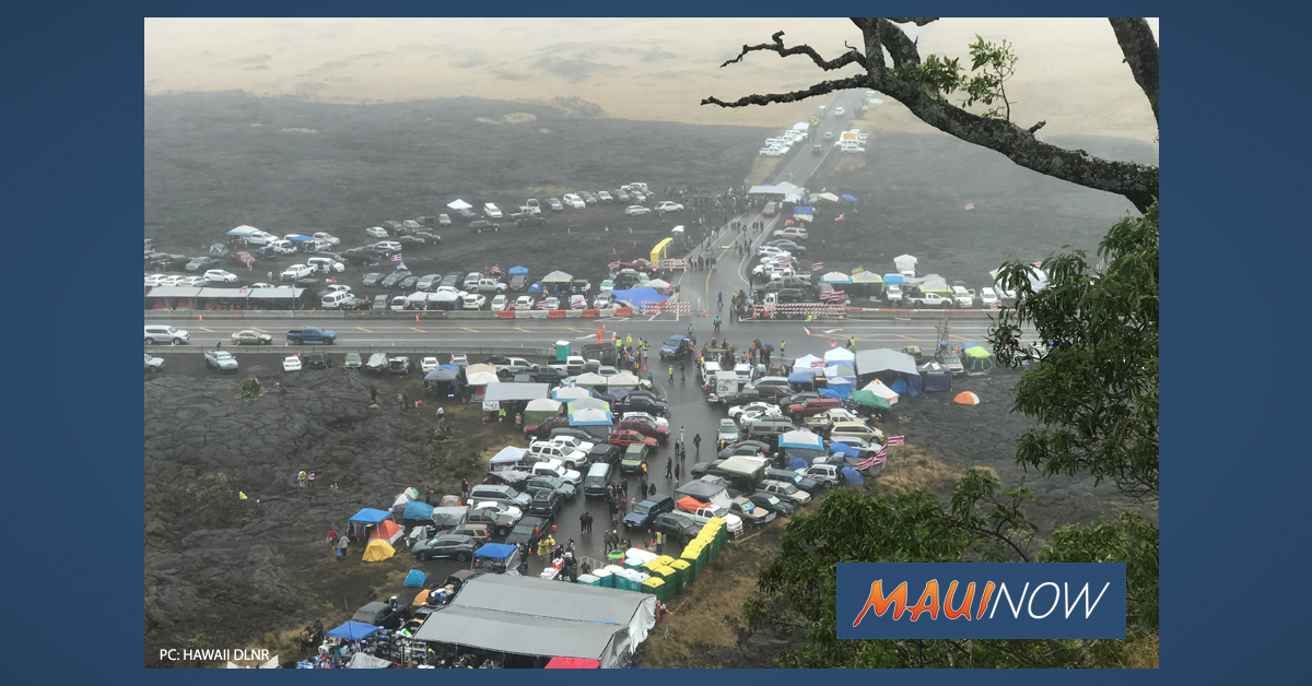 State: Parking Prohibited Along Highway at Mauna Kea Access Road