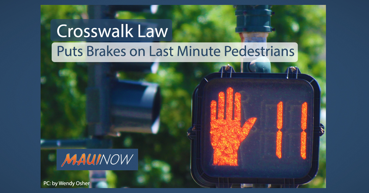 Crosswalk Law Puts Brakes on Last Minute Pedestrians