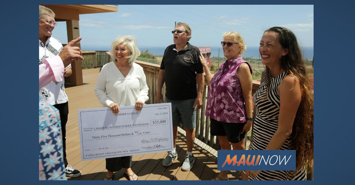 $35,000 Donated to Lahainaluna Media Program