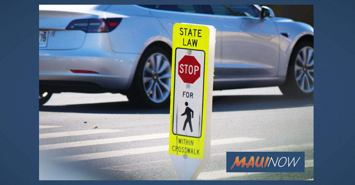 Pilot Project for Pedestrian Safety Launched on Maui