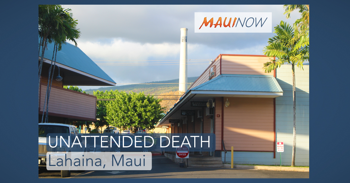 Maui Police Investigate Woman's Death in Lahaina