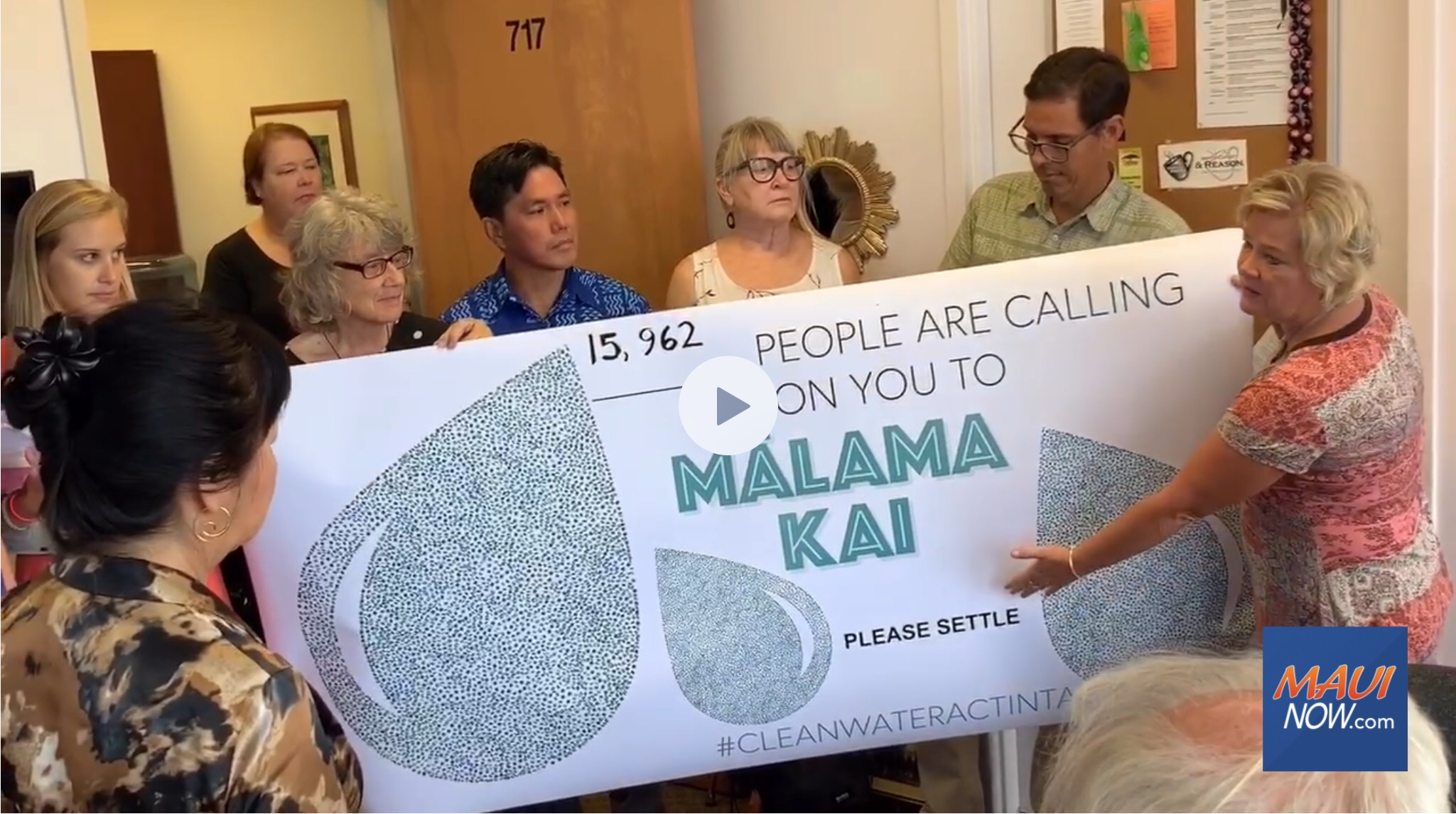 Petitions Delivered Urging County to Settle Lahaina Injection Well Case