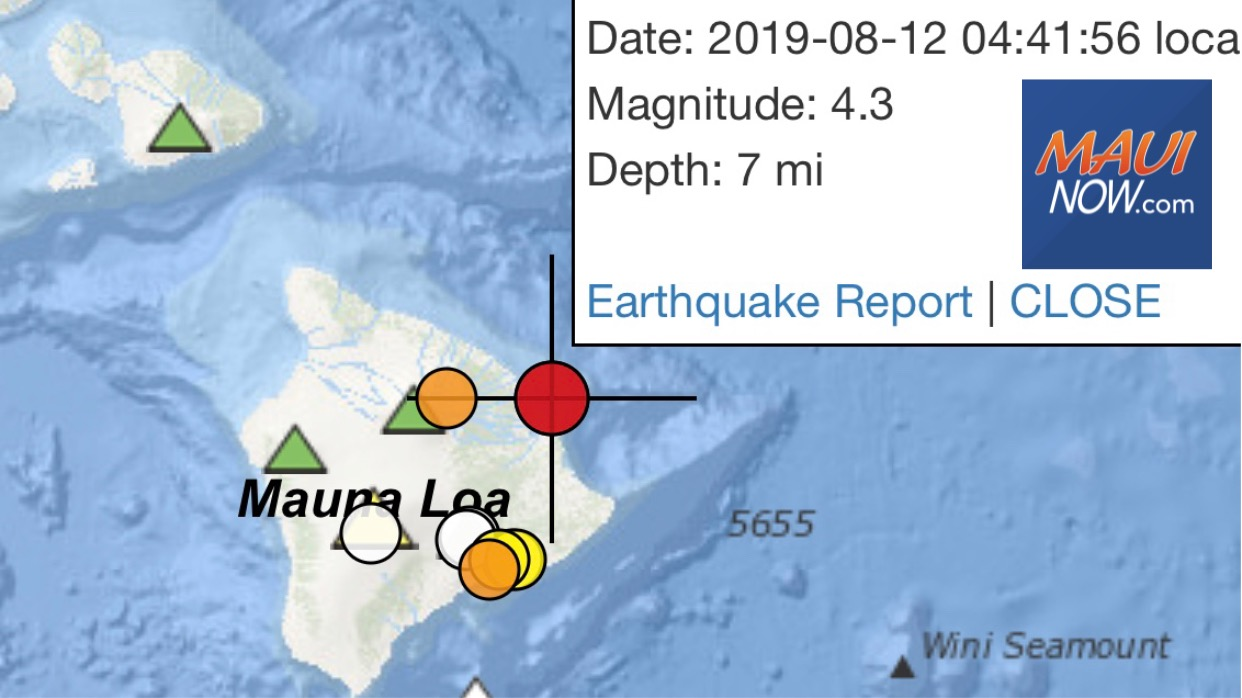 No Tsunami Threat After 4+ Hawaiʻi Quake