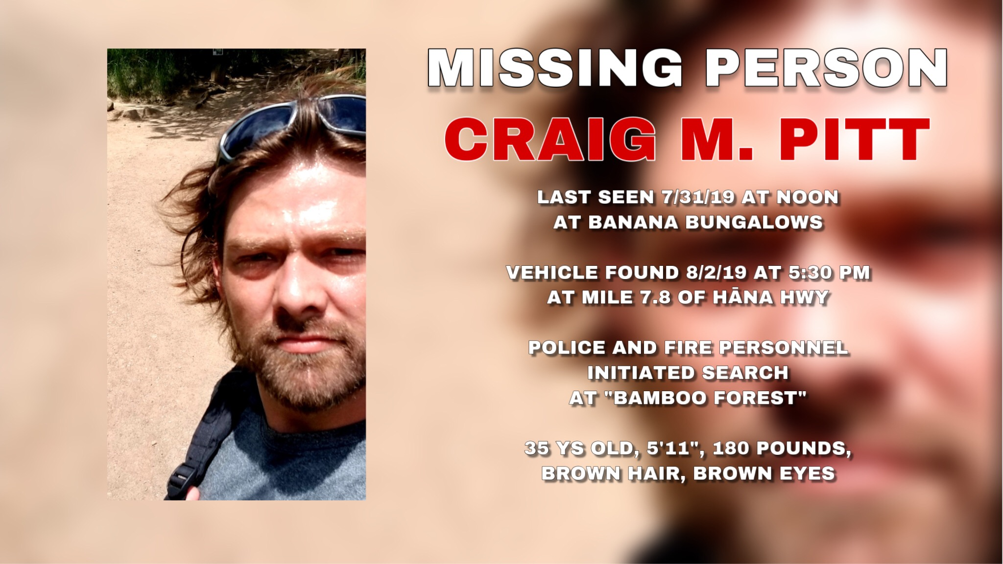 Missing Hiker: Craig Michael Pitt Missing After Maui Hike