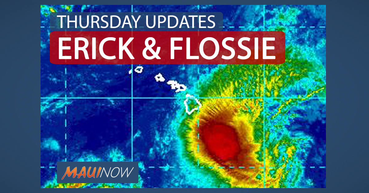 "11 p.m.: Erick ""Rapidly Weakening""; Flossie ""Moving Quickly"""