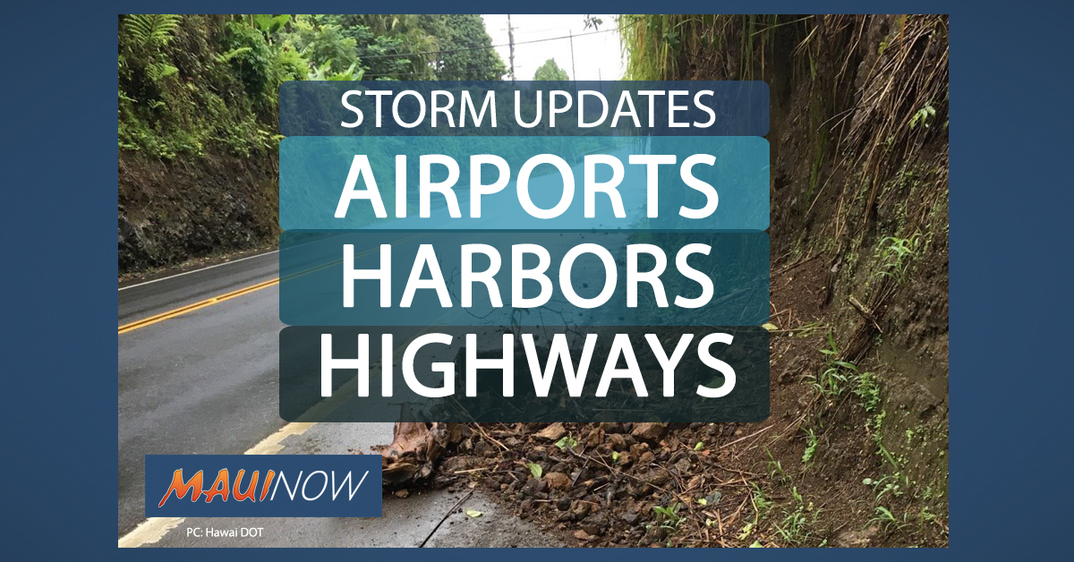 Storm Prep for: Airports, Harbors, Highways
