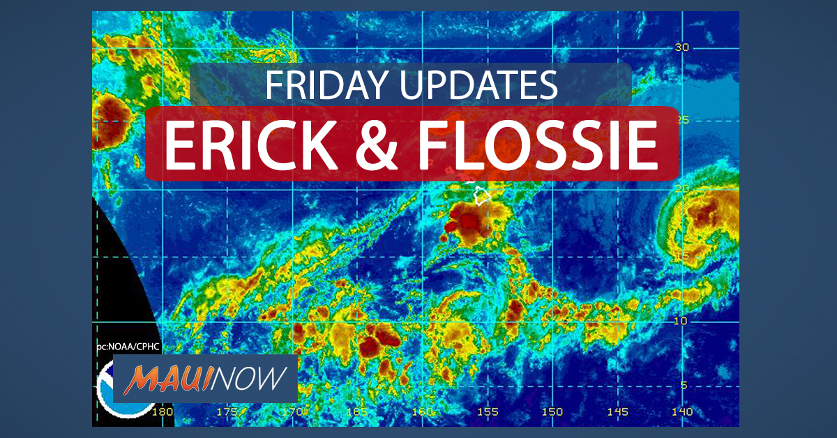 11 p.m.: Erick & Flossie Updates for Friday, Aug. 2