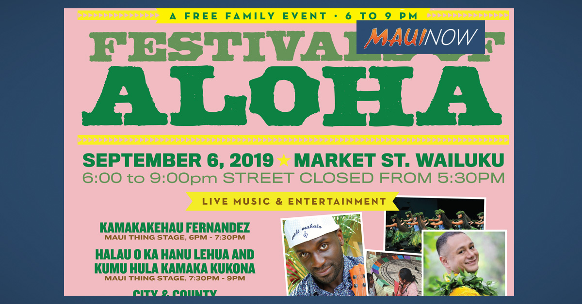 "Wailuku First Friday ""Festivals of Aloha"" Sept. 6"