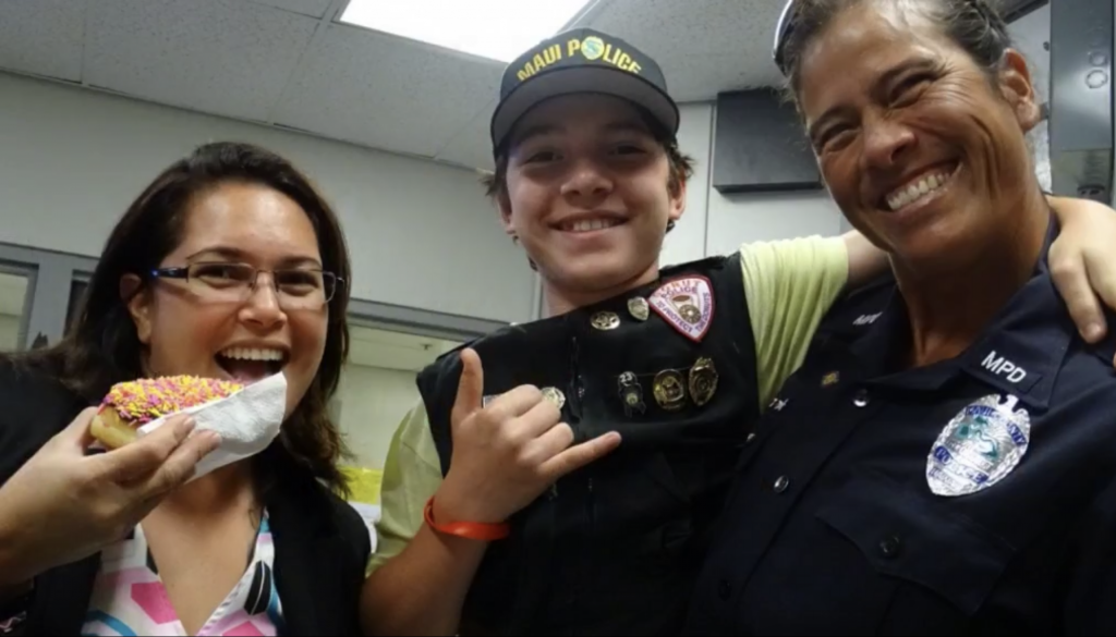 "Maui Now: ""Donut Boy"" From Florida Makes Delivery to Maui Police"