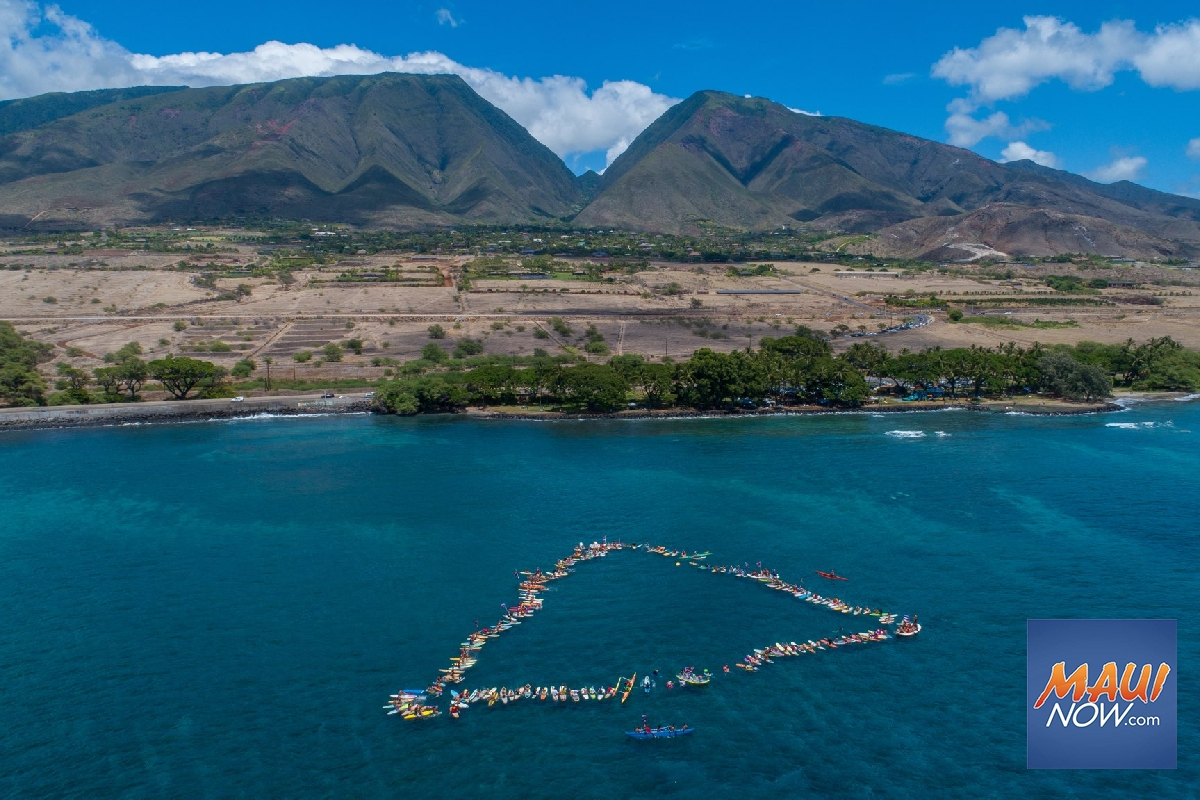 Maui Surfers Paddle Out to 'Protect Mauna Kea'